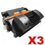 3 x HP CF281X (81X) Compatible Black Toner Cartridge - 25,000 Pages