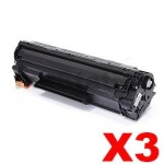 3 x HP CF283X (83X) Compatible Black Toner Cartridge - 2,200 Pages