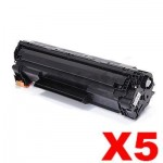 5 x HP CF283X (83X) Compatible Black Toner Cartridge - 2,200 Pages
