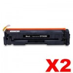 2 x HP CF500X (202X) Compatible Black High Yield Toner Cartridge - 3,200 Pages