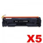 5 x HP CF500X (202X) Compatible Black High Yield Toner Cartridge - 3,200 Pages