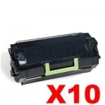 10 x Lexmark (52D3H00) Compatible MS810 / MS811 / MS812 Black High Yield Toner Cartridge - 25,000 pages