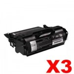 3 x Lexmark T650H11P Compatible T650/T652/T654 Toner Cartridge - 25,000 pages