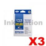 3 x Value Pack - Genuine Epson 133 T1331-1334 Inkjet Cartridges [C13T133692] [3BK,3C,3M,3Y]