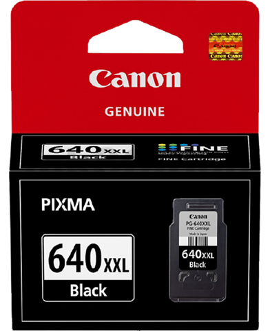 Canon PG-640XXL Genuine Black Extra High Yield Ink Cartridge - 600 pages