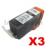3 x Pack Canon PGI-525BK Compatible Black Inkjet (with Chip)