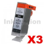3 x Compatible Canon BCI-3eBK Black Ink Cartridge