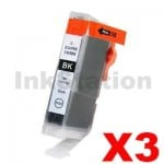 3 x Compatible Canon BCI-6BK Black Ink Cartridge