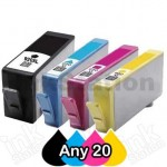 Any 20 x HP 920XL Compatible High Yield Inkjet Cartridges CD972AA-CD975AA [BK,C,M,Y]