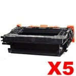 5 x HP 37X CF237X Compatible Black High Yield Toner Cartridge - 25,000 Pages