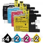 10 Pack Brother LC73/LC77XL Compatible High Yield Ink Cartridge [4BK,2C,2M,2Y]