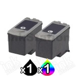 2 pack Canon PG-40 CL-41 Compatible Combo Pack  [1BK,1C]