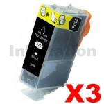 3 x Pack Canon PGI-520BK Compatible Inkjet (with Chip)