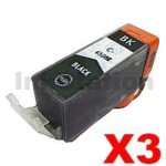 3 x Canon PGI-650XLBK Compatible Black High Yield Inkjet Cartridge