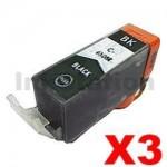 3 x Canon PGI-650XLBK Compatible Black High Yield Inkjet Cartridge