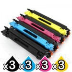 3 sets of 4 Pack Brother TN-155 Compatible Toner Combo (TN155 is High Capacity Version of TN150) [3BK,3C,3M,3Y]