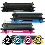 2 sets of 4-Pack Brother TN-240 Compatible Toner Combo [2BK,2C,2M,2Y]
