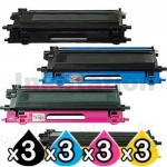 3 sets of 4-Pack Brother TN-240 Compatible Toner Combo [3BK,3C,3M,3Y]