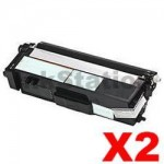 2 x Compatible Brother TN-348BK Black Toner Cartridge - 6,000 pages