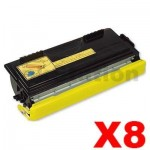 8 x Brother TN-6600 Black Compatible Toner Cartridge 6,000 pages