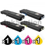 4 Pack Fuji Xerox DocuPrint CP405D, CM405DF Compatible Toner Cartridges [CT202033-CT202036]