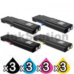 3 sets of 4 Pack Fuji Xerox DocuPrint CP405D, CM405DF Compatible Toner Cartridges [CT202033-CT202036]