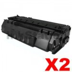 2 x Canon CART-308II  Black Compatible Toner Cartridge 6,000 Pages