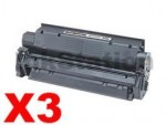 3 x Canon CARTW Black Compatible Toner Cartridge 3500 pages