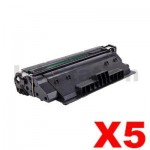 5 x HP CF214A (14A) Compatible Black Toner Cartridge - 10,000 Pages