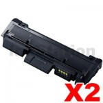 2 x Samsung SLM2825DW/ 2835DW/ 2875FW/ 2885FW (MLT-D116L) Compatible Black High Yield Toner Cartridge SU830A - 3,000 pages