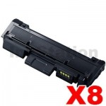 8 x Samsung SLM2825DW/ 2835DW/ 2875FW/ 2885FW (MLT-D116L) Compatible Black High Yield Toner Cartridge SU830A - 3,000 pages