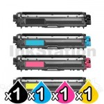 4-Pack Brother TN-251 / TN-255 Compatible Toner Combo [1BK,1C,1M,1Y]