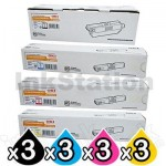 3 Sets of Genuine OKI C510,C530,MC561 Toner Cartridges (44469806-44469727)