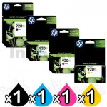 4 Pack HP 920XL Genuine High Yield Inkjet Cartridges CD972AA-CD975AA [1BK,1C,1M,1Y]