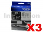 3 x Genuine Brother LC-139XLBK Black Ink Cartridge - 2,400 pages