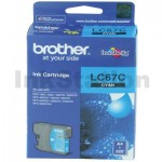 Genuine Brother LC-67C Cyan Ink Cartridge - 325 pages