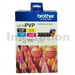 Genuine Brother LC-73PVP Photo Value Pack [BK+C+M+Y+Photo Paper]