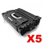 5 x HP CF325X (25X) Compatible Black Toner Cartridge - 40,000 Pages