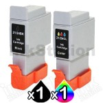 2 Pack Canon BCI-24BK BCI-24C Compatible Value Pack [1BK,1C]