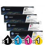 4 Pack HP CF350A-CF353A (130A) Genuine Toner Cartridges [1BK,1C,1M,1Y]