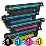 4 Pack HP 508X (CF360X-CF363X) Compatible Toner Cartridges [1BK,1C,1M,1Y]