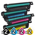 2 sets of 4 Pack HP 508X (CF360X-CF363X) Compatible Toner Cartridges [2BK,2C,2M,2Y]