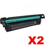2 x HP 508X (CF360X) Compatible Black Toner Cartridge - 12,500 pages