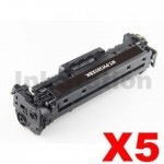 5 x HP CF380X (312X) Compatible Black High Yield Toner Cartridge - 4,400 Pages
