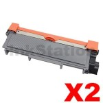 2 x Fuji Xerox DocuPrint M225,M265,P225,P265 Compatible Black High Yield Toner Cartridge (CT202330)- 2,600 pages