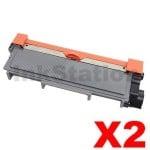 2 x Fuji Xerox DocuPrint M225,M265,P225,P265 Compatible Black High Yield Toner Cartridge (CT202330)- 2,600 pages