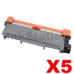 5 x Fuji Xerox DocuPrint M225,M265,P225,P265 Compatible Black High Yield Toner Cartridge (CT202330)- 2,600 pages