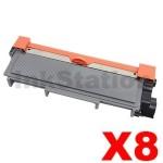 8 x Fuji Xerox DocuPrint M225,M265,P225,P265 Compatible Black High Yield Toner Cartridge (CT202330)- 2,600 pages