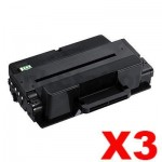 3 x Compatible Samsung ML-3710/ SCX-5637/ SCX-5737 (MLT-D205E 205) Black Extra High Yield Toner SU953A - 10,000 pages