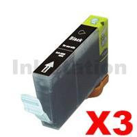 3 x Pack Canon CLI-8BK Compatible Black Inkjet Cartridges (with Chip)
